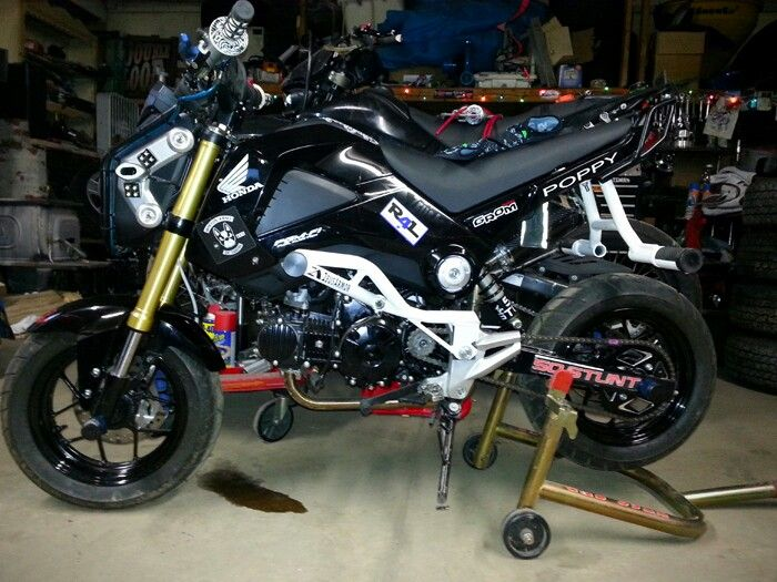 ZeusArmor Honda Grom Stunt Crash Cage and Passenger Peg Cheater Subcage available at http://zeus-armor.com