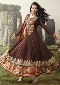 Georgette Shantong Suit Salwar With Nazdin Dupatta