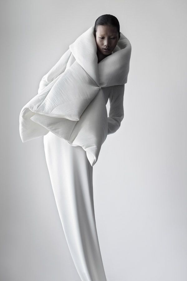 "qiu hao via Trendland.com    ""Don't ask me about inspiration… image is a simple way of saying complicated things."" These are the first words you read on designer Qiu Hao's site, which, as it turns out is a beautifully stark presentation of the Chinese designer's conceptual clothing line."