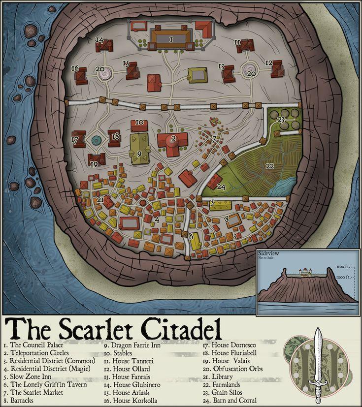 Mapa London%0A     The Scarlet Citadel