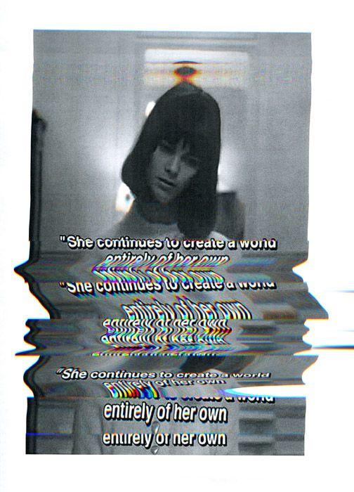 Dark TV Glitch Art | Static Television | Horror Scene | Madness | Dream World | Imagination | Quote | Escape | Gothic | Psychedelic | Trippy Crazy Girl