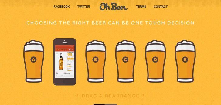 Oh Beer! website has a Great Web Design | http://www.webdesign-inspiration.com/web-design/ohbeer-com-7249