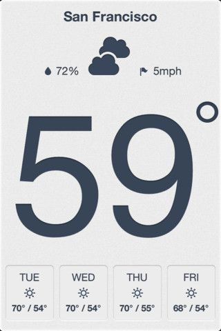 One of the best minimalist weather apps in the App Store. Find out more at kelvinapp.com.