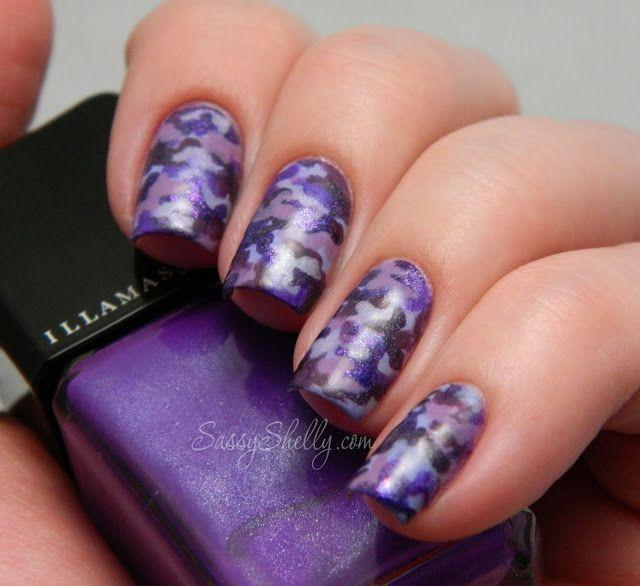 Camo Nail art | Purple camo nail art.jpg