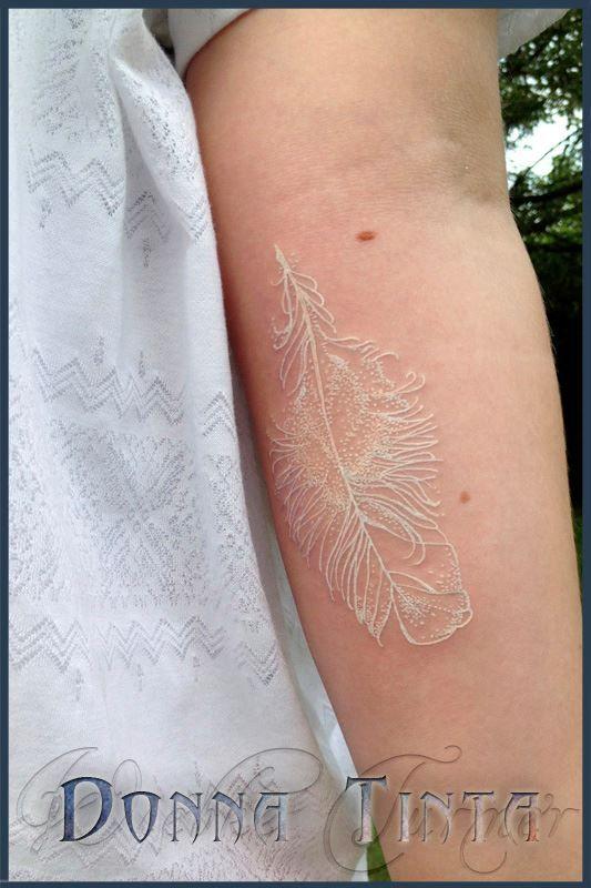 white tattoo by donna tinta