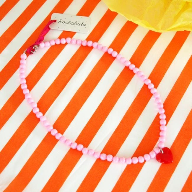 Pink Bead Sweetheart Necklace | Rockahula Kids | Sprogs Inc