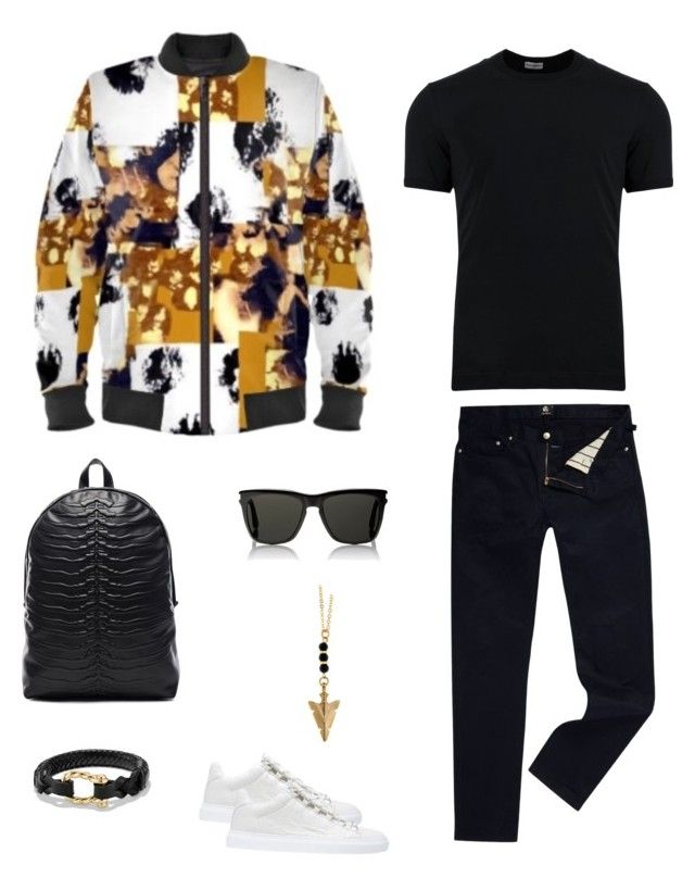 """Serengeti"" jacket ootd by guutanii on Polyvore featuring polyvore, Dolce&Gabbana, PS Paul Smith, Balenciaga, Yves Saint Laurent, Alexander McQueen, David Yurman, men's fashion, menswear and clothing"