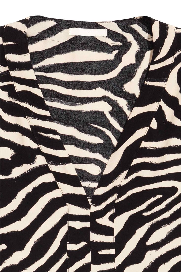 V Yakalı Tunik - Zebra baskı - Ladies   H&M TR