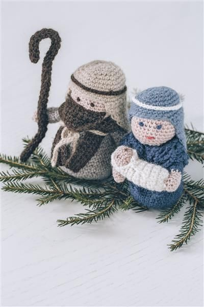 Tema 40: 34 Krybbefigurer #jul #strikk #christmas #knit