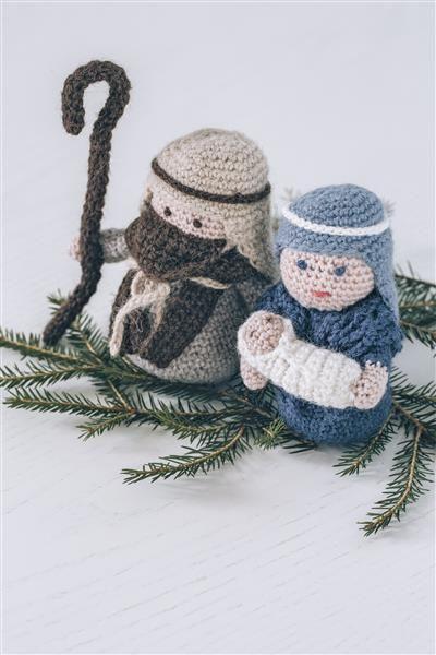 Tema 40: 34 Krybbefigurer #jul #strikk #christmas #knit