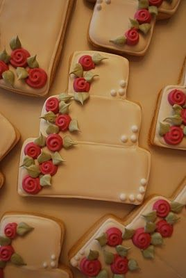 wedding cookies - great idea for favors or for dessert table