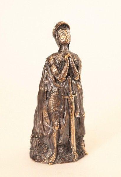 Joan of Arc Bronze Lady Bell 12.3 cm  Колокольчики отлитые в Украине