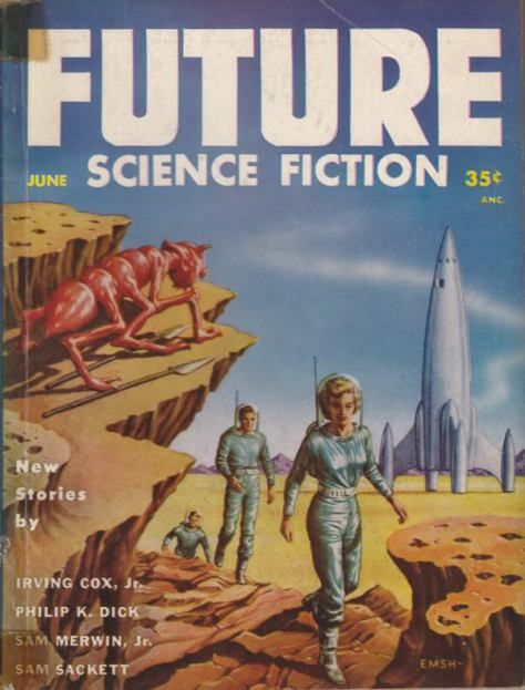 Robert Gibson Jones' cover for the August 1951 issue of Amazing Stories, ed. Howard Browne