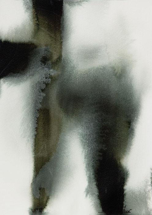 "Bianka Guna - Winter V • Acrylic on Paper • One 10"" x 14"" panel"