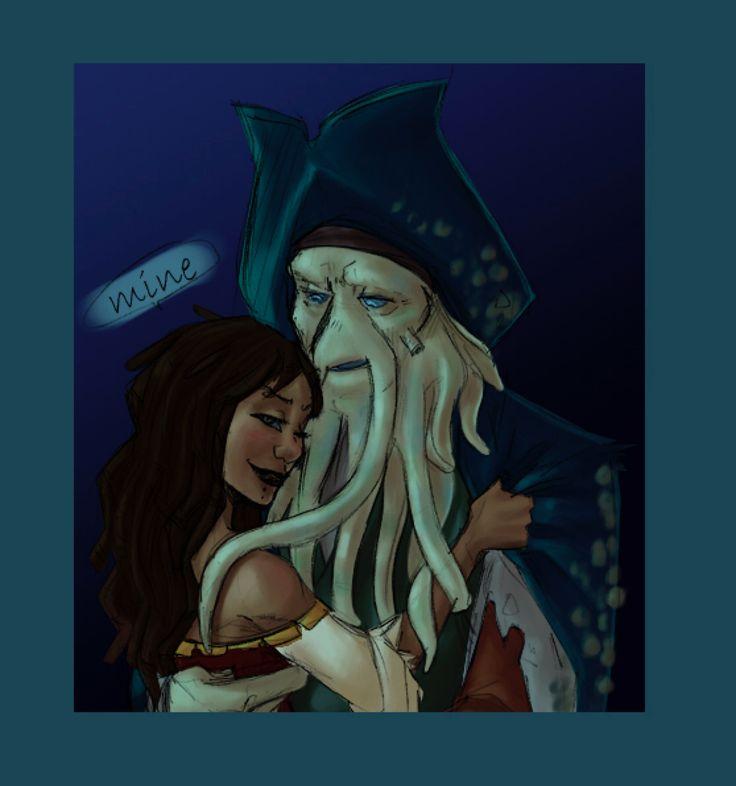 Davy Jones, Calypso: Mine by Crispy-Gypsy on @DeviantArt
