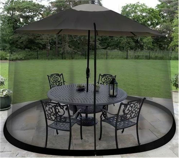 New Umbrella Screen Outdoor Table  Patio Insects Repellant Door Easy Safe Bugs