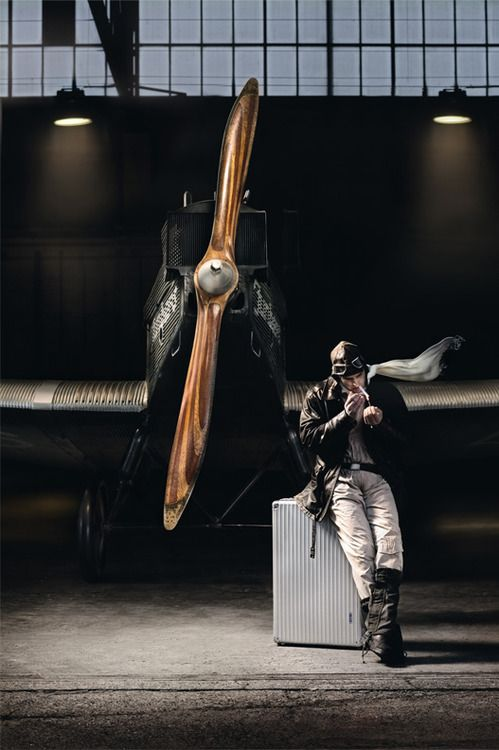 """cloggo:  DIESELPUNK This epitomises 1930's aviation Russian Caption:— """"Small advertising photoset from the site www.rimowa-in-the-air.com, dedicated to reconstruct the Junkers F13."""" From HERE"""