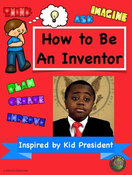 How to Be An Inventor is an engaging Youtube video featuring Kid President!  It is a great way to introduce engineering / inventions to your students.  Included is a thoughts and suggestions sheet which highlights portions of the video and offers tips for discussion and video follow-up.