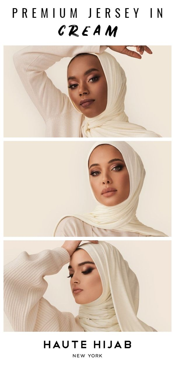 Premium Jersey Hijab in Cream