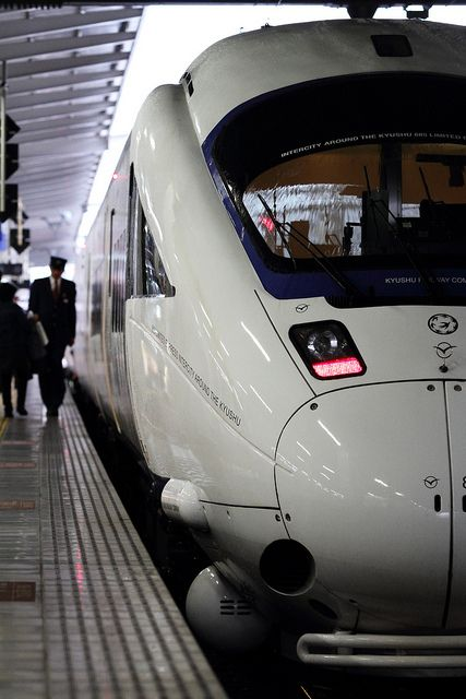 "Limited Express ""Kamome"", Hakata station, Fukuoka, Japan"
