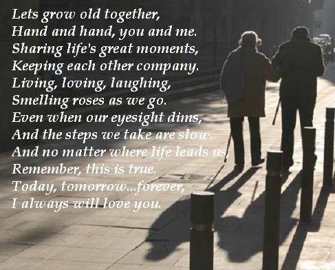 Lets Grow Old Together Hand And Hand You And Me Sharing Lifes