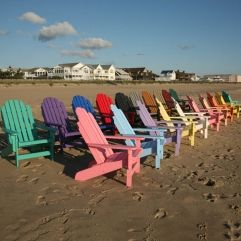 Colorful Adirondack Chairs Made From Polywood Are Long Lasting And Add  Style To Any Setting.
