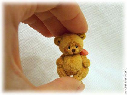 Мишки Тедди ручной работы. Ярмарка Мастеров - ручная работа. Купить Мини (3 см). Handmade. Желтый, макарова виктория