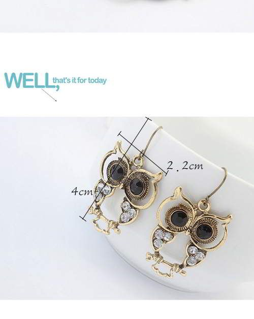Hollow Out Owl Shape Decorated Simple Design Bronze.  Fashionable with passion REPIN if you like it.😍 Only 21 IDR
