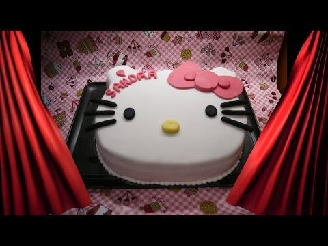 Hello Kitty Torte   Torten Dekorieren Mit Fondant   Kuchen Backen   YouTube