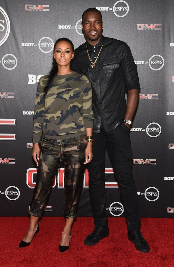 Keri Hilson's ESPN's BODY Issue Pre-Party Valentino Camouflage Print Sweatshirt and Camouflage Pants