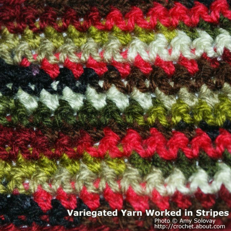 Ways To Combine Variegated Yarn Afghans Crochet Patterns