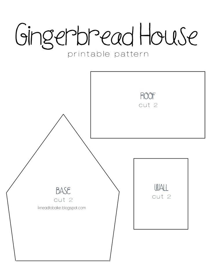 i knead to bake: Gingerbread Recipe & Printable House Template