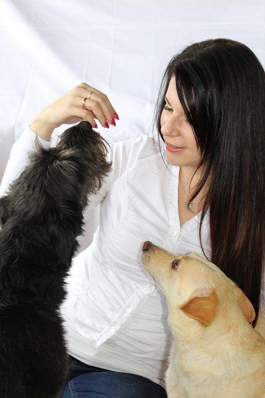 Krisztina Németh-Kakuszi, owner, designer, creator, Sugar & Flower Dog Bakery (featuring the two doggies: Sugar and Flower). Németh-Kakuszi Krisztina, tulajdonos, termékfejlesztő, Cukor & Virág Kutyapékség; www.cukorvirag.com (Cukor és Virág kutyusokkal)