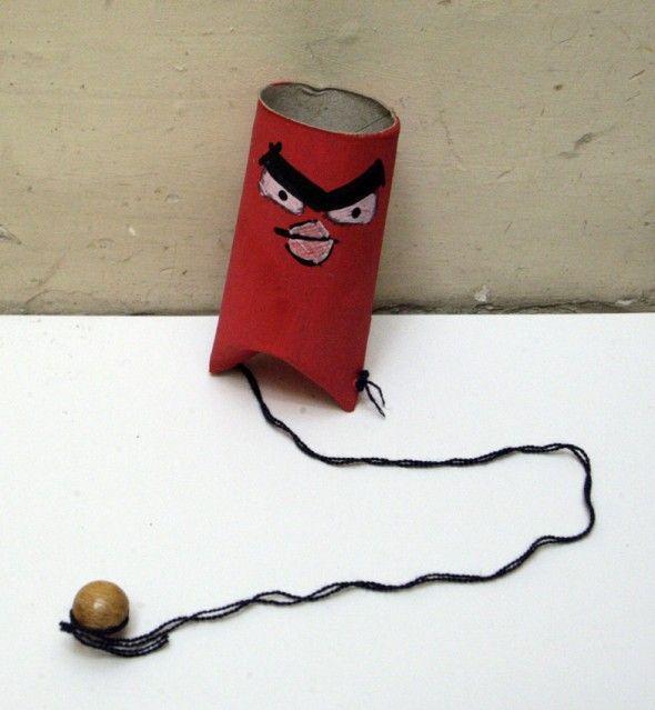 angry birds tp craft game kids kinder spiel toiletten rolle recyclar niños jugar manualidad basteln