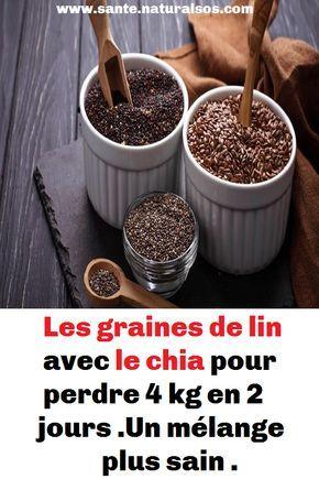 Les graines de lin avec le chia pour perdre 4 kg en 2