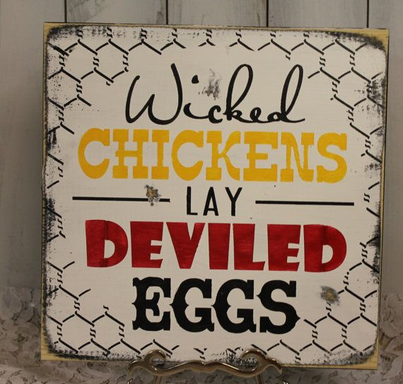 Hey, I found this really awesome Etsy listing at https://www.etsy.com/listing/151696558/wicked-chickens-lay-deviled-eggs