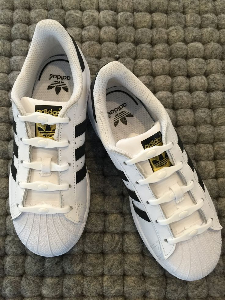 Shoeps elastische Schnürsenkel weiß Adidas Superstars Kids