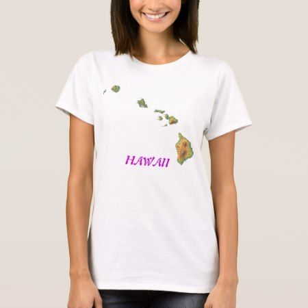 hawaii-map, HAWAII T-Shirt - tap, personalize, buy right now!