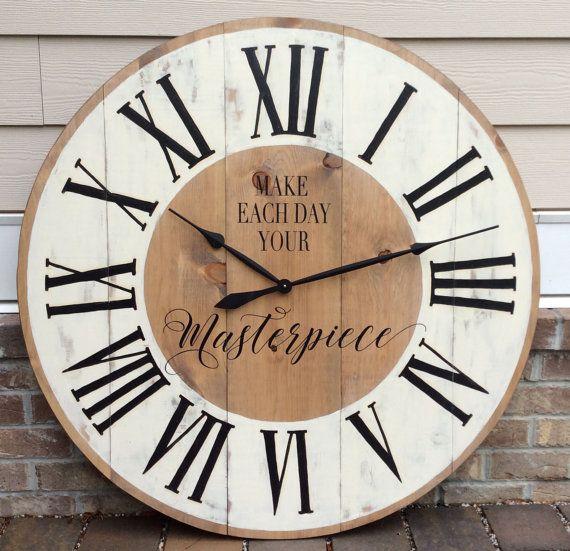41 best diy large clocks images on pinterest clock ideas large wall clocks and diy clock