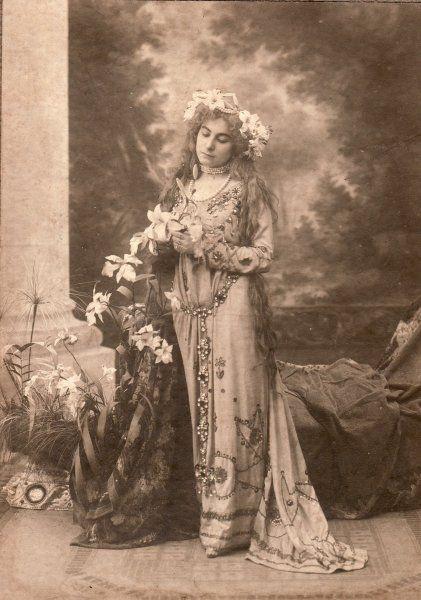 Spanish actress Margarita Xirgu in stage costume