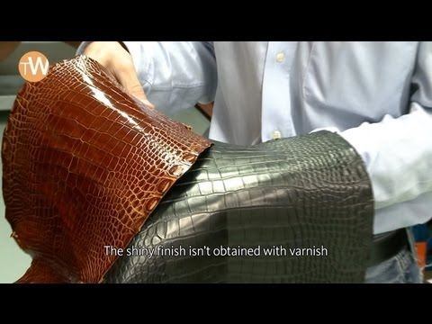 How is a Hermès leather strap crafted, part 1 - YouTube