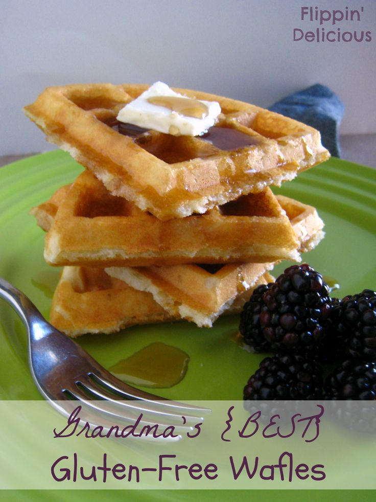 Grandma's gluten-free waffles! These look delicious & my girls can eat them!!
