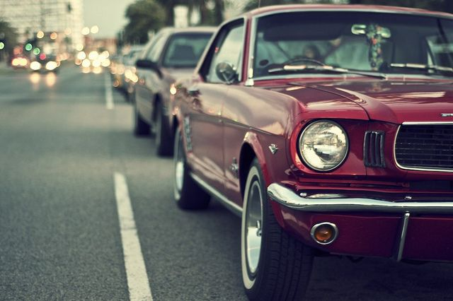 mustang. I want an old red mustang. Dream car