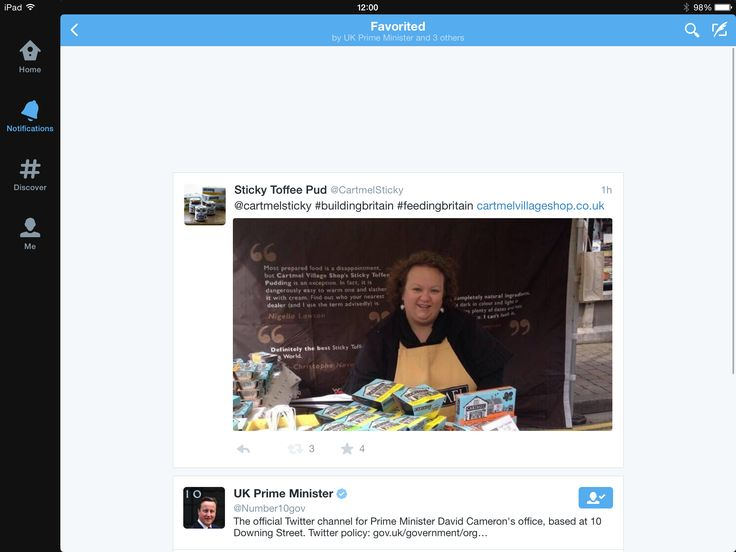 great to have our #buildingbritain tweet favourited by @UK Prime Minister #Cartmel #PuddingLove