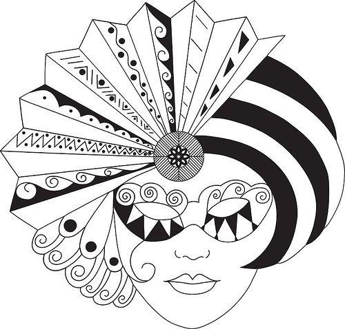mask23 - Zentangle like - zentangle inspired - zentangle patterns - #zetangle
