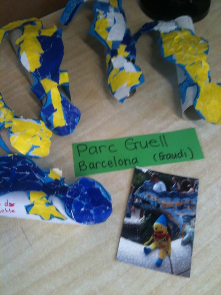 Gaudi -Parc Guell- bij de kleuters.