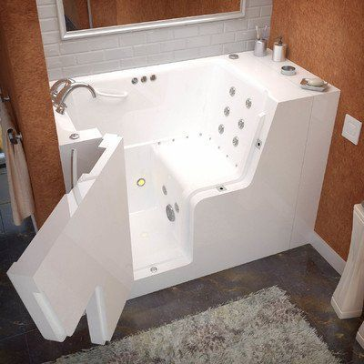 """Therapeutic Tubs CSN2952WCALWDC Mohave 29"""" x 52"""" Wheelchair Accessible Whirlpool and Air Massage Walk In Bath Tub In White Drain Location: Left ** Find out more about the great product at the image link."""
