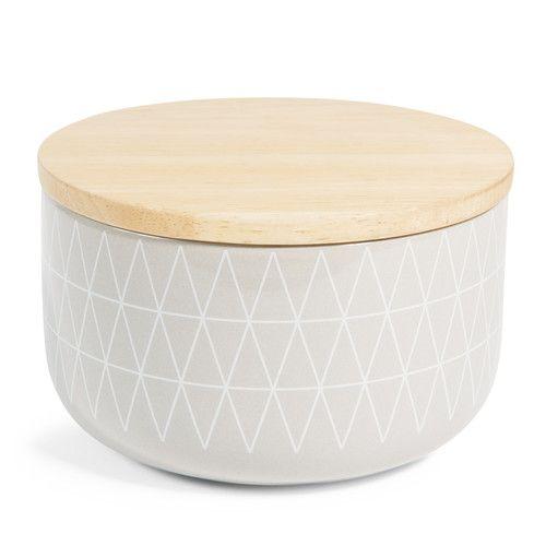 Aufbewahrung - BLACK & WHITE beige earthenware beige pot, H 9cm - http://www.maisonsdumonde.com/AT/de/produits/fiche/topf-black-white-aus-fayence-h-9-cm-beige-152018.htm