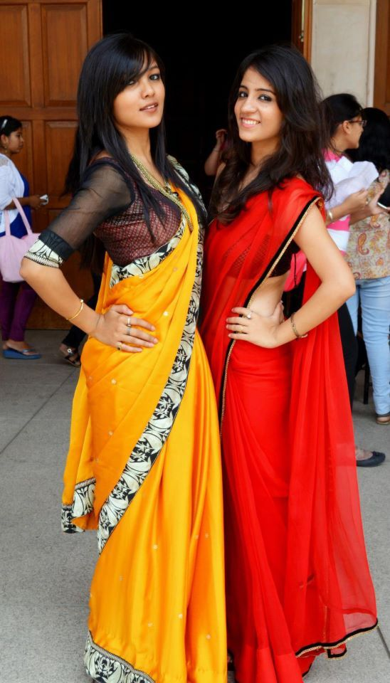 Love both the Saris. Simple and Pretty