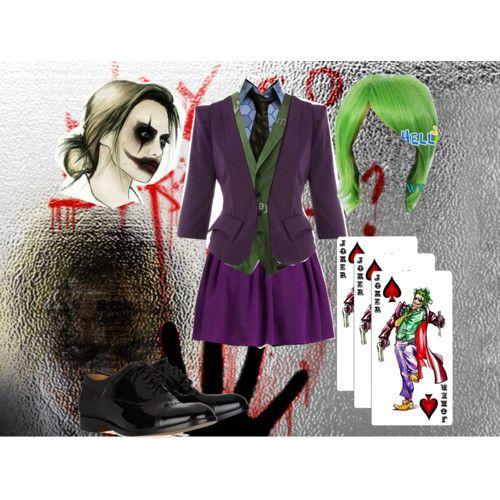 Female Joker cosplay ensemble